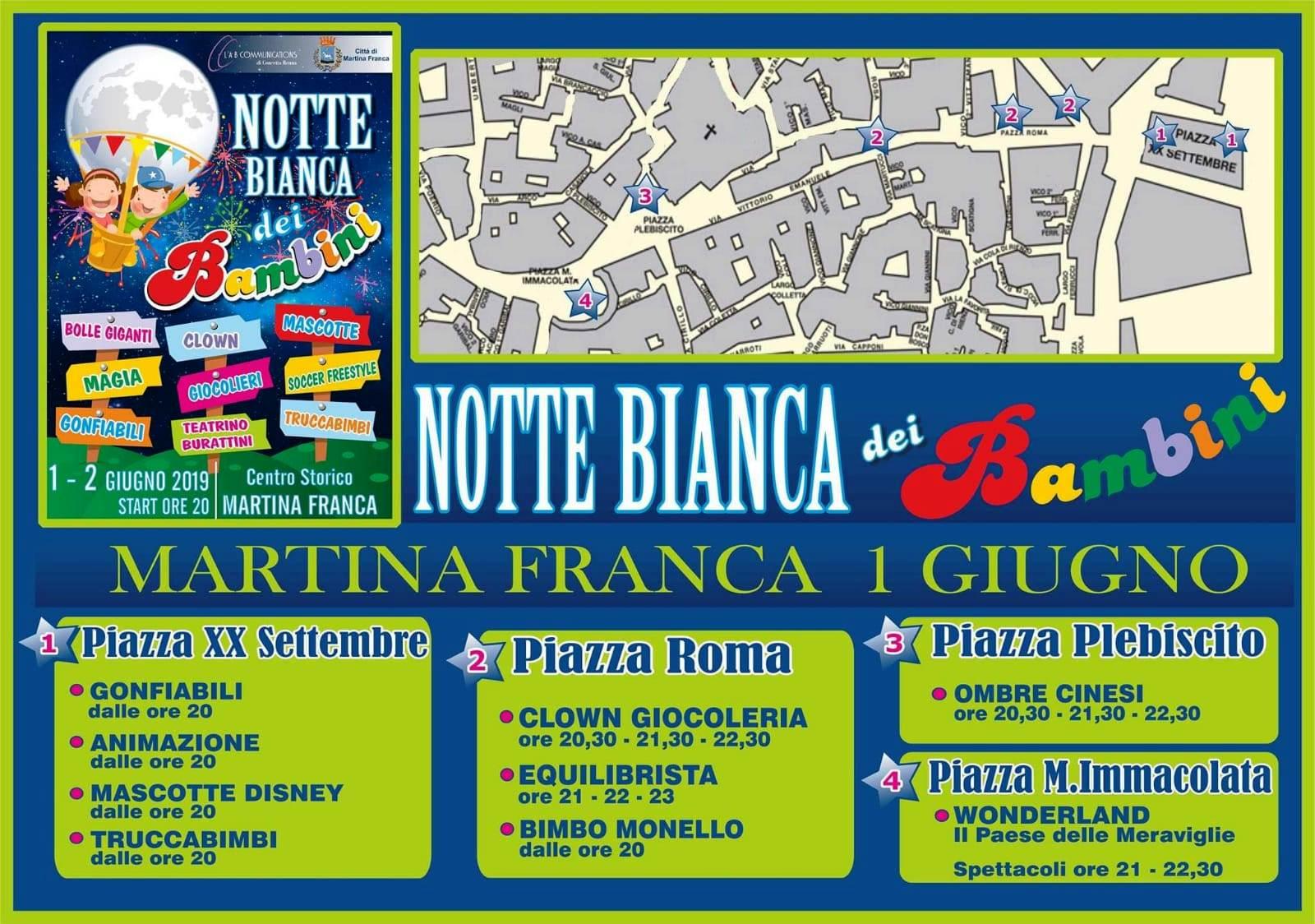 Calendario Eventi Martina Franca.Arriva Il 1 E Il 2 Giugno 2019 La Notte Bianca Dei Bambini