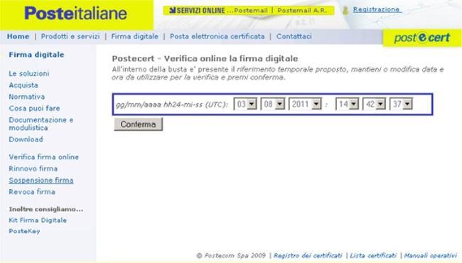 Copia della seconda schermata di Poste Italiane