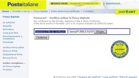 Copia della prima schermata di Poste Italiane